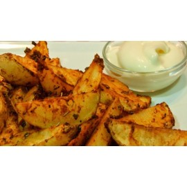 ROASTED POTATOES WEDGES IN ALIOLI SAUCE